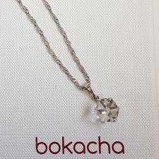 Колие с кристали Swarovski® CUBE 8мм Crystal, Бял цвят, Код PR N583A