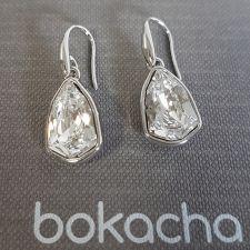 Обеци с кристали SWAROVSKI® SLIM TRILLIANT в Crystal - Бял цвят, Код PR E631A