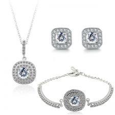 Бижута АТИНА ПАЛАДА НЮ със SWAROVSKI® Crystals, Колие, Обеци и Гривна,  Zerga Brand: ZG S555-3