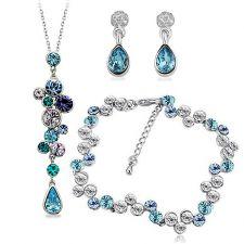 Бижута MAGNIFIQUE NEW с кристали Swarovski®, Колие, Обеци и Гривна ZERGA BRAND, Код ZG S530-3