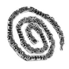 Комплект ланец и гривна от стомана за мъж ТРАВОЛТА 8mm, код 316L S144