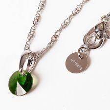 Колие с кристали Swarovski® RIVOLI 8мм Emerald**, Зелен, Код PR N377