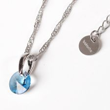 Колие с кристали Swarovski® RIVOLI 8мм Aquamarine AB - Светло син, Код PR N374