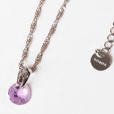 Колие с кристали Swarovski® RIVOLI 8мм Violet AB - Светло лилав, Код PR N380