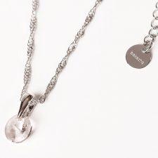 Колие с кристали Swarovski® RIVOLI 8мм Crystal, Бял, Код PR N370