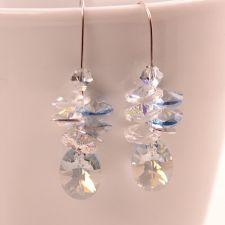 Бижута с кристали Swarovski® OVAL STRING Blue Shade**, Син, Колие и Обеци, Код PR S403