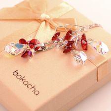Бижута с кристали Swarovski® POLYGON STRING Crystal Aurore Boreale** AB, Бял, Колие и Обеци, Код PR S404