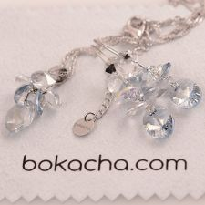 Бижута SWAROVSKI® OVAL STRING Blue Shade**, Син, Колие и Обеци, Код PR S403
