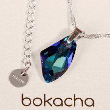 Колие с кристали Swarovski® GALACTIC 19мм Bermuda Blue BBL, Син, Код PR N362