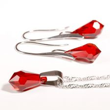 Бижутас кристали Swarovski® TEAR 15мм Light Siam АВ, Червен, Код PRFNS S356