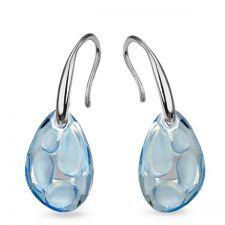 Обеци с кристали Swarovski® RADIOLARIAN 18мм Blue Shade**, Син цвят, Код PR E495