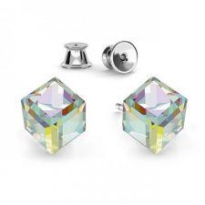Сет Обеци с кристали Swarovski® JELLY, CUBE и RIVOLI 10мм, 6мм и 8мм, Многоцветни, Код PRFNS S430C
