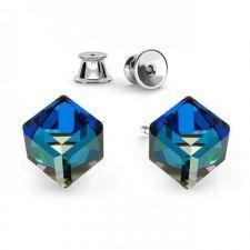 Сет Обеци с кристали Swarovski® TRILLIANT, CUBE и RIVOLI 7мм, 6мм и 8мм, Многоцветни, Код PRFNL S430B