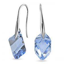 Обеци с кристали Swarovski® CUBIST 22мм Light Sapphire, Син, Код PR E497