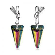 Обеци FAITH Swarovski® Spike, Rainbow Dark**, Многоцветен, Код PR E481