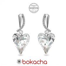 Обеци CRYSTAL с кристали SWAROVSKI® WILD HEART, Crystal, Бял, Код PR E679