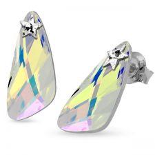 Обеци STAR, украсени със SWAROVSKI® WING 23мм Crystal Aurore Boreale** AB, Бял, Код PR E581