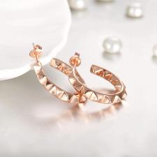 Обеци ПИРАМИДИ халки с 18К Розово Злато, Колекция Zerga Brand, Код 18KG E02824