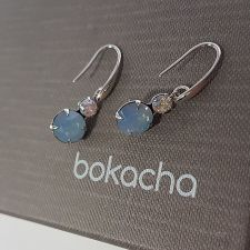 Висящи обеци Magic с кристали SWAROVSKI® CHATON, Air Blue Opal,Син цвят, Код PR E572