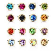 Обеци с кристали Swarovski® STRING OF COLOURS 4мм, Разноцветни, Код PR E200