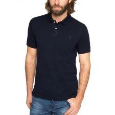 Eжедневна тениска с яка ESPRIT с къс ръкав, Размер L, Код BL358FNL
