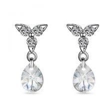 Обеци PASSION SWAROVSKI® MINI PEAR 8мм Crystal, Бял цвят, Код ZG E426