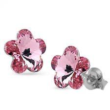 Обеци с кристали Swarovski® FLORAL Light rose - Нежно розов цвят, Код PR E536