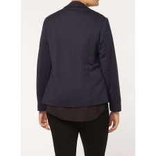 Елегантно дамско сако EVANS в мастилен син цвят, Размер XXL-XXXXL, Код JA0003