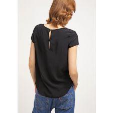 Елегантна блуза EVEN&ODD в черно с къс ръкав, Размер M, Код BL0075