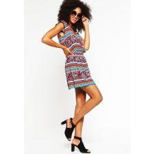 Пъстра рокля SPRINGFIELD с дълъг ръкав, Код DD0065