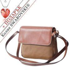 Чанта Естествена Кожа ПАЛЕРМО, FLORENCE, кафяв цвят, Код FL86927