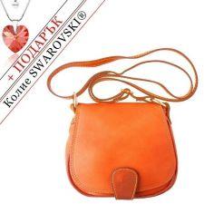Чанта Естествена Кожа РИМИНИ, FLORENCE, оранжев цвят, Код FLB0247C