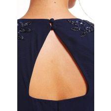 Официална рокля FROCH and FRILL с мъниста в тъмно син цвят, Размер XL/XXXL, Код DD0134
