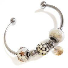 Гривна с талисмани ЗВЕЗДЕН МИГ, Swarovski® Pave Beads, Код PR B532