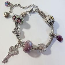Гривна с талисмани ВЪЛШЕБНА ГРАДИНА, Swarovski® Pave Beads, Код PR B531