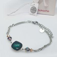 Гривна BLINK с кристали SWAROVSKI® FANTASY CUSHION, 12мм Emerald, Зелен цвят, Код PR B662