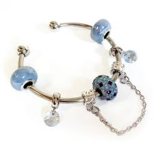 Гривна с талисмани СЕВЕРНО СИЯНИЕ, Swarovski® Pave Beads, Код PR B530