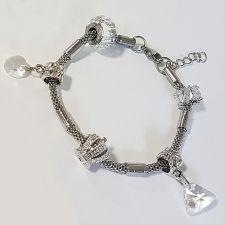 Гривна с талисмани ВЕЧНО ПРИЯТЕЛСТВО, Swarovski® Pave Beads, Код PR B526