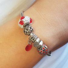 Гривна с талисмани МОЯ ЛЮБОВ, Swarovski® Pave Beads, Код PR B529