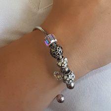 Гривна с талисмани КРЕПКО ЗДРАВЕ, Swarovski® Pave Beads, Код PR B525