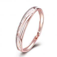 Гривна GOLD LAVA с 18К Розово Злато и Австрийски кристали, Zerga Brand, Код 18KGFNO B01315