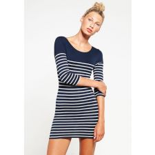 Вталена рокля NEW LOOK цвят бяло и синьо, Код DD0055