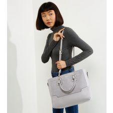Елегантна Чанта New Look в модерен сив цвят, Код F276