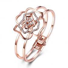 Гривна CRYSTAL FASHION с 18К Розово Злато и Австрийски кристали, Zerga Brand, Код 18KG B08689