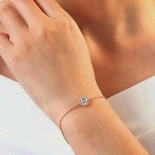 Гривна GOLD CIRCLE с 18К Розово Злато и Австрийски кристали, Zerga Brand ZG B570