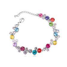 Гривна ИЗИДОРА с разноцветни Swarovski Crystals, Zerga Brand, Код ZG B521