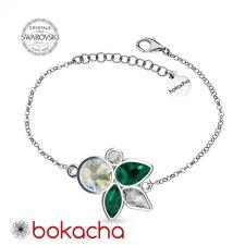 Гривна DIVNA с кристали SWAROVSKI®, Multi / Emerald, Зелен цвят, Код PR B641