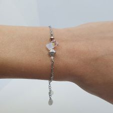 Гривна CANDY ELAGANCE с кристали SWAROVSKI® в Бял цвят, Код PR B705