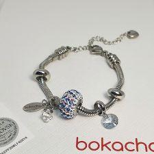 Гривна ПАЛИТРА НА ЩАСТИЕТО с талисмани SWAROVSKI® Pave Beads, Multi- Многоцветен, неръждаема стомана, Код PR B645