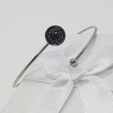 Гривна с кристали SWAROVSKI® PAVE PURE HEM - Черен цвят, Код PR B664